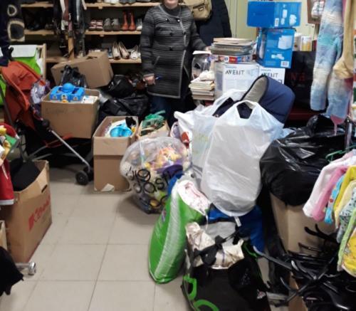 Помощь гуманитарному складу Ростовского благочиния